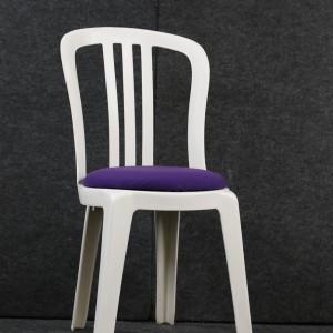 White Bistro with Purple Pad