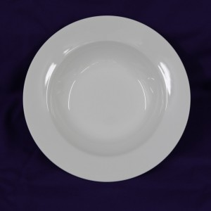 Rimmed Soup Bowl top down view