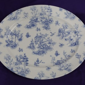 Prague Toile Platter