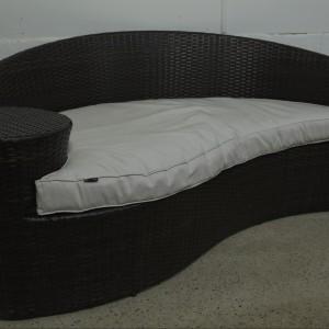 Dark Rattan Sofa